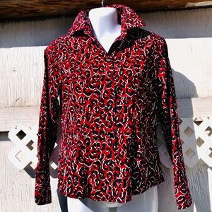 Foxcroft wrinkle free fitted 2P  print shirt